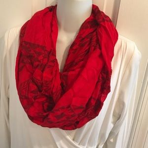 Express red scarf